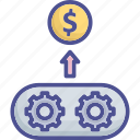 business, income, production, profit, turnover icon