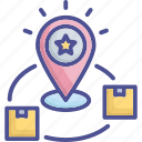 brand, creative brand, goods, marketplace, positioning icon
