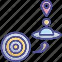 consumer, customer, goal, group, target icon