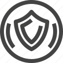 circle, digital, encryption, protection, security, shield icon