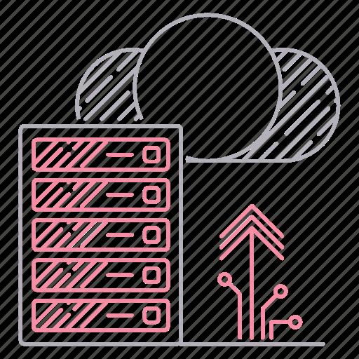 data, digital services, exchange, server, upload icon