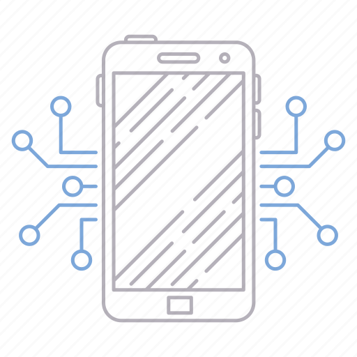 digital services, mobile, phone, technology icon