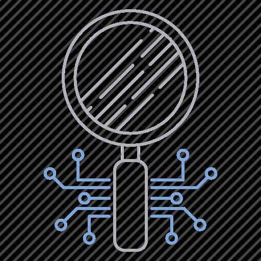 circuit, digital services, loop, search icon