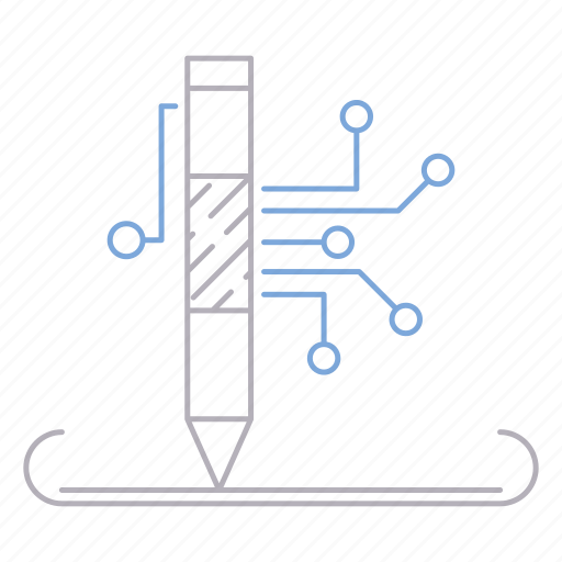digital services, pen, services, writing icon