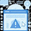 alert, danger, error, notification, warning, webpage, website