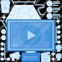 media, movie, multimedia, screen, television, tv, video