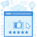 media, network, rating, review, social, star, thumbs
