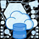 cloud, database, digital, network, server, storage, transfer