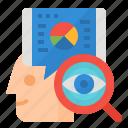 analytical, customer, management, relationship icon
