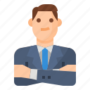 avatar, business, man, manager icon