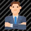 avatar, business, man, manager