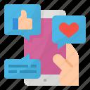 advertising, media, smartphone, social icon