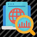 analytics, statistics, strategy, web icon