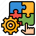 business, developing, solutions, strategy icon