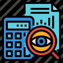 analysis, financial, management, strategic icon