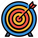 business, goal, management, target icon