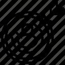 objective, goal, retargeting, targeting, target, goals icon