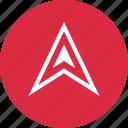 arrow, gps, nav, navigation, pin, up