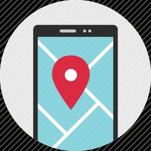 cell, gps, nav, navigation, phone, pin icon