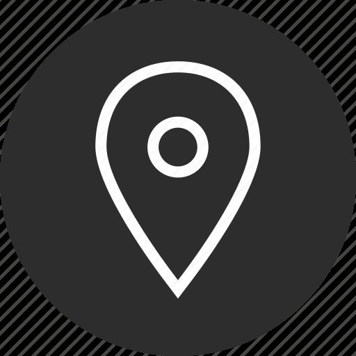 gps, locate, location, nav, navigation, pin icon