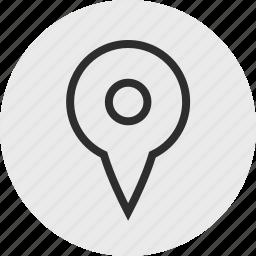 gps, nav, navigation, pin, search icon