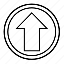 arrow, clue, direction, hint, sign