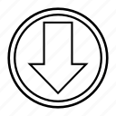 arrow, clue, direction, hint, sign icon