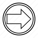 arrow, clue, direction, hint, left, sign