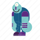 blue, cute, dirty, monster, emoticon, expression, file
