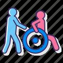 carer, caretaker, disabled, nurse icon