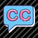 captioning, cc, closed, subtittle icon