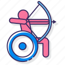 athletes, disabled, handicap, paralympic icon