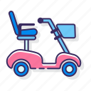 mobility, scooter, transportation, vehicle icon