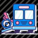 bus, ramp, transportation, wheelchair icon