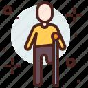 amputated, funding, handicap, injured, leg icon