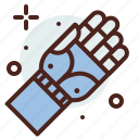 arm, bionic, funding, handicap, injured icon