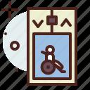 elevator, funding, handicap, injured, wheelchair icon