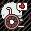 funding, handicap, injured, medical, wheelchair icon