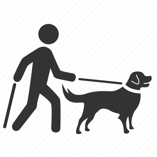 blind, disable, disabled, dog, guide dog, leader dog, pet icon