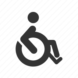 disable, disabled, handicap, person, priority seat, priority seating, wheelchair icon