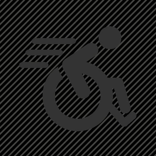 disable, disabled, handicap, paralympic, paraplegic, veteran, wheelchair icon