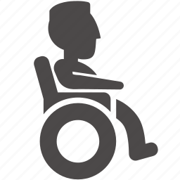 adult, disabled, health, human, man, people, wheelchair icon