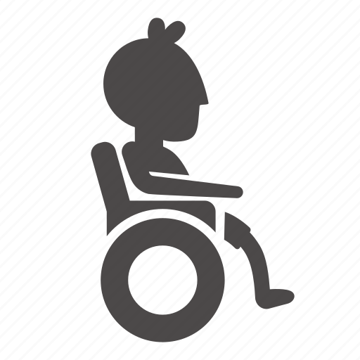 boy, child, disabled, health, human, people, wheelchair icon