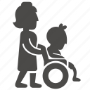boy, child, disabled, health, immovable, nurse, wheelchair icon