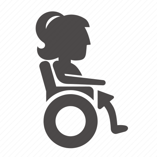 child, disabled, girl, health, human, people, wheelchair icon