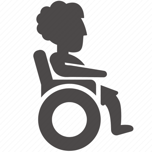 disabled, health, human, old, people, wheelchair, woman icon