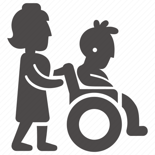 boy, disabled, health, immovable, nurse, teenager, wheelchair icon