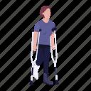 disabled, woman, crutches, broken, leg