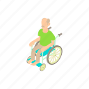 cartoon, disabled, man, medical, person, wheelchair