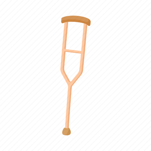crutch, disability, disabled, medical, support, tool, walk icon